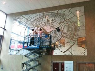 Spiegelwand in houtnerf Projecten